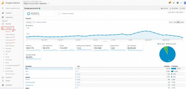 Gebruikers in Google Analytics