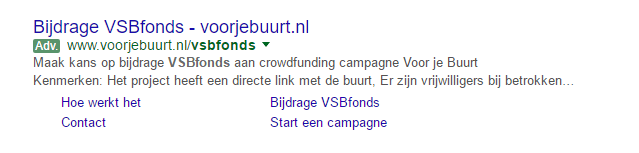 adwords sitelinks meten
