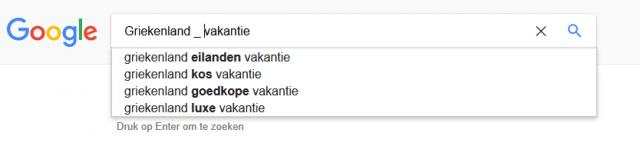 google zoekwoorden
