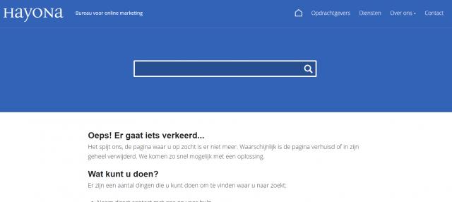 404 pagina voorbeeld