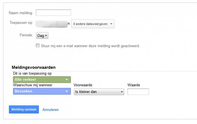 aangepaste melding maken in Google Analytics