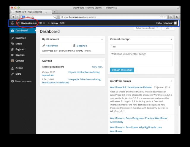 WordPress website bekijken