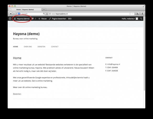 WordPress bewerken