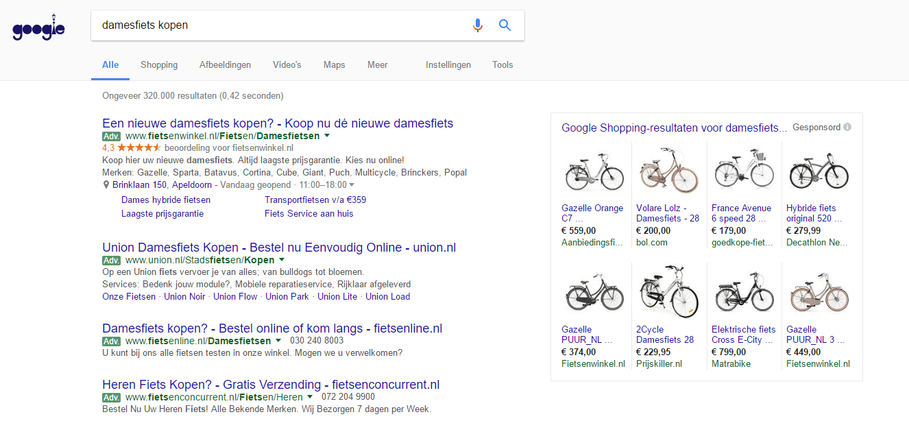 Google shopping feed maken