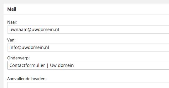 Edit contact form 7