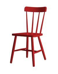 Rode stoel van hout