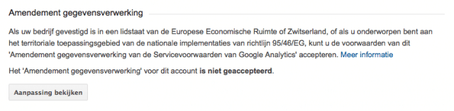 Google Analytics bewerkersovereenkomst