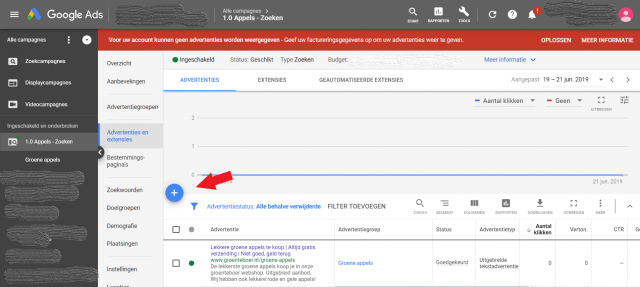 Tekst advertentie maken in Google Ads