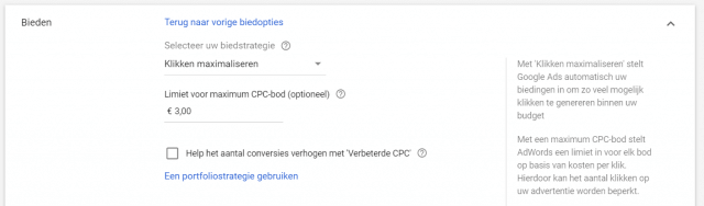 Biedstrategie Google Ads