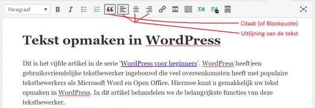 Het bewerken van een paragraaf in WordPress