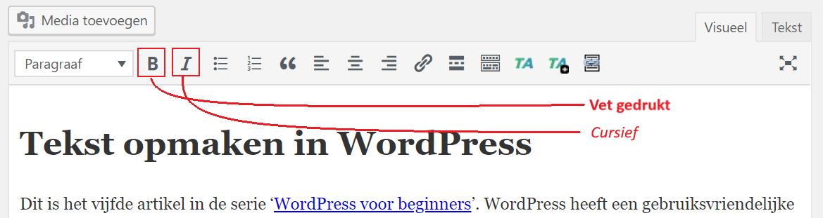 b1c5bd1f000 Tekst opmaken in WordPress | InterPedia