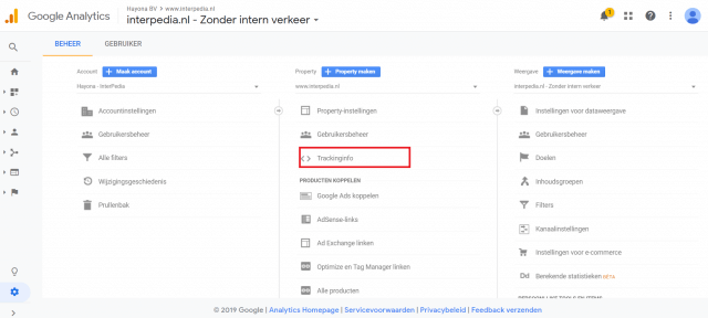 Google Analytics installeren trackingcode