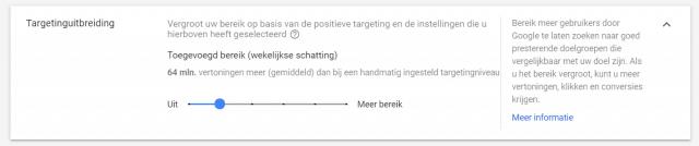 Uitbreiden van targeting in Google Ads